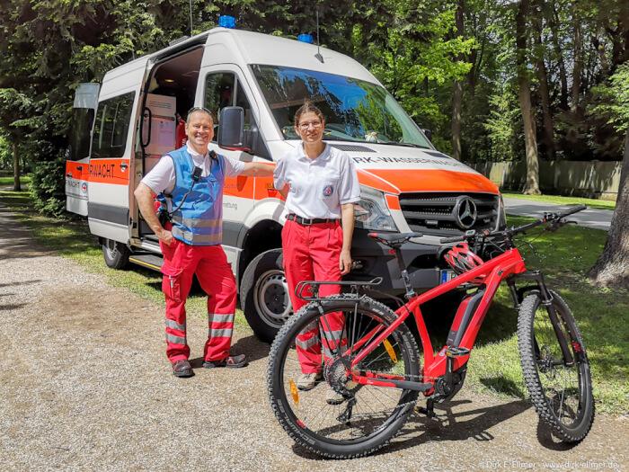 Heiko Hendlich (technischer Leiter WW OG BT) und Fiona Weimann