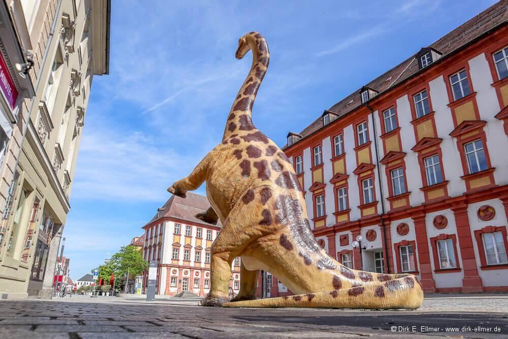 Dinosaurier in der Altstadt von Bayreuth